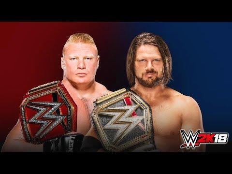 Full Match - Brock Lesnar vs AJ Styles - WWE Survivor series 2017