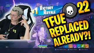 FaZe Clan Replaces Tfue with CONSOLE PLAYER?!?! 22 Kill Solo Game