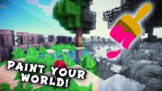 Minecraft Maps - PAINT THE WORLD! (Paint The Terrain, Epic & Fun Redstone Creation!)