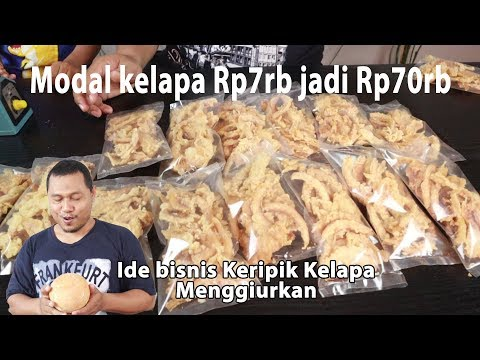 Download Modal kelapa 7rb jadi keripik kelapa jual 70rb HD Mp4 3GP Video and MP3