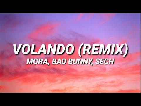 Mora x Bad Bunny x Sech - Volando Remix (Letra/Lyrics)