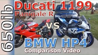 8. Ducati 1199 Panigale R vs BMW HP4 | Comparison Video