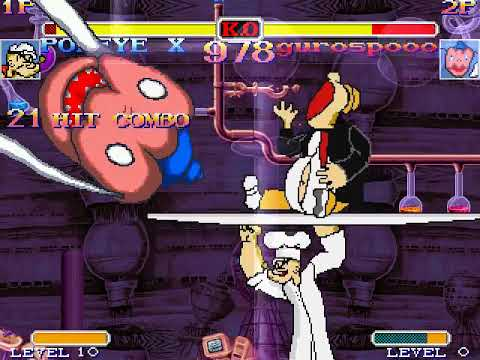 Mugen Popeye the Sailor Man(me) vs Gurospoo(AI Patched)