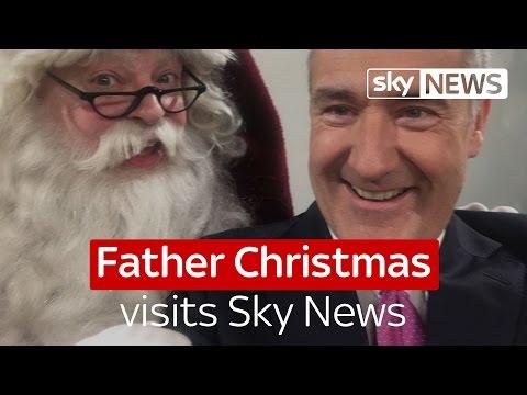 Father Christmas visits Sky News