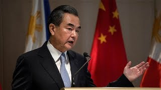 """Chinese Foreign Minister Wang Yi said that talks on the South China Sea are """"on the right track"""". Wang made the remarks in Manila on Tuesday at a press conference with his Filipino counterpart Alan Peter Cayetano. Subscribe to us on YouTube: https://goo.gl/lP12gADownload our APP on Apple Store (iOS): https://itunes.apple.com/us/app/cctvnews-app/id922456579?l=zh&ls=1&mt=8Download our APP on Google Play (Android): https://play.google.com/store/apps/details?id=com.imib.cctvFollow us on:Facebook: https://www.facebook.com/ChinaGlobalTVNetwork/Instagram: https://www.instagram.com/cgtn/?hl=zh-cnTwitter: https://twitter.com/CGTNOfficialPinterest: https://www.pinterest.com/CGTNOfficial/Tumblr: http://cctvnews.tumblr.com/Weibo: http://weibo.com/cctvnewsbeijing"""