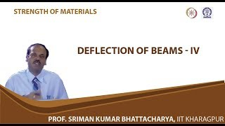 Lecture - 33 Deflection Of Beams - IV