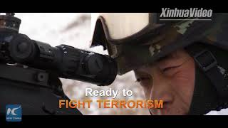 New recruits of armed forces in Xinjiang hold combat drills