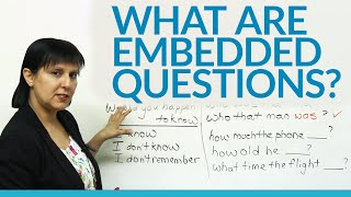 What are Embedded Questions, Conversational English