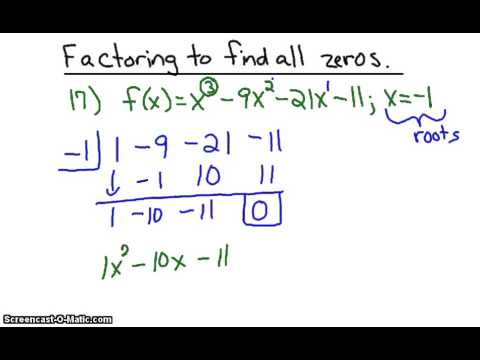 how to find root of a polynomial equation