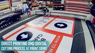 Printing and Cutting process of Business Signs for Beer Garden