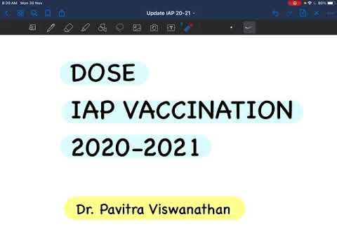 10 minute DOSE - IAP vaccination update 2020-2021