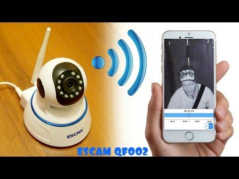 ПОВОРОТНАЯ WIFI IP КАМЕРА ESCAM QF002 720P ДЕНЬ/НОЧЬ. АЛИЭКСПРЕСС (видео)