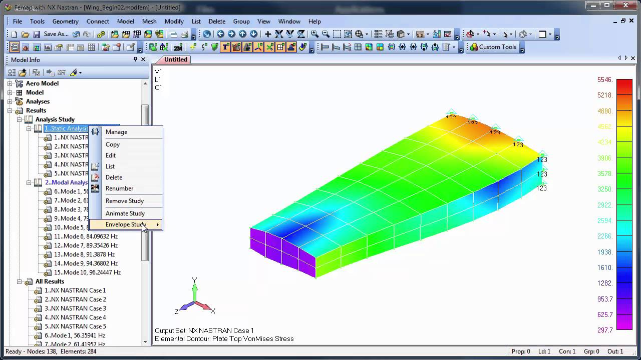 Femap 11.2 Analysis Studies