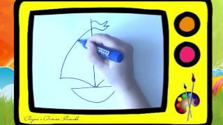 Как нарисовать кораблик. Оживающие рисунки