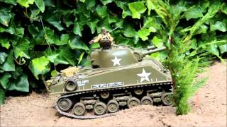 1/16 RC Tank Tamiya Tiger 1&M4 Sherman