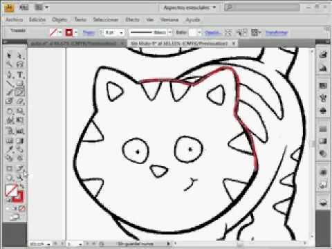 videotutoriales.es illustrator cs4 dibujar un gato