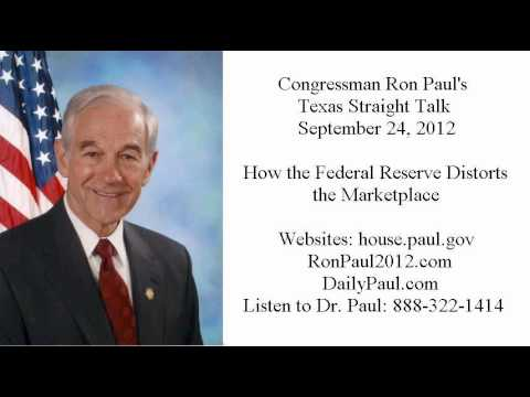 Ron Paul's Texas Straight Talk 9/24/12: Interest Rates Are Prices