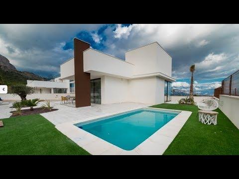 Новая вилла в стиле хай-тек в городе Полоп, Испания. Дома на побережье для продажи