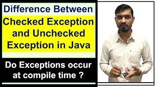 Difference between Checked and Unchecked Exception | Exception Handling in Java by Deepak