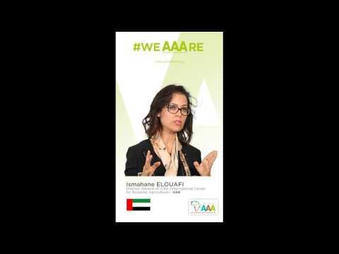 Ismahane ELOUAFI, Directrice Générale ICBA, soutient l'initiative AAA