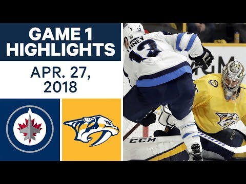 Video: NHL Highlights | Jets vs. Predators, Game 1 - Apr. 27, 2018