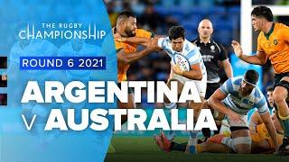 Argentina v Australia Rd.6 2021 Rugby Championship video highlights