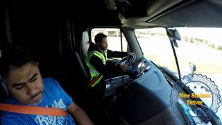 Video Truck Driving Student - First day at truck shifting and backing MP3, 3GP, MP4, WEBM, AVI, FLV Juni 2018