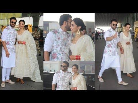 Video Ranveer Singh And Deepika Padukone leave for Bangalore Reception// Media Calls Deepika As Bhabhi Ji download in MP3, 3GP, MP4, WEBM, AVI, FLV January 2017