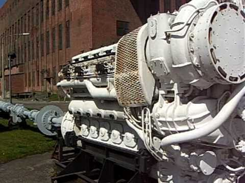 12 Cyl 1.6 MW Russian Ship Engine and Underwater Acoustic Magnetic Seismic Mines -1