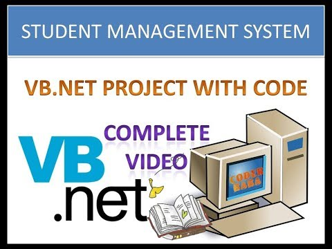 Student Management System Project in VB.NET with source code Hindi