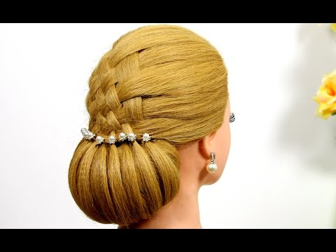 Updo hairstyles. Hairstyles for medium hair. Wedding hairstyles.