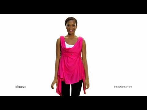 Red Blouse Wrap - How to Make The Bina a Blouse
