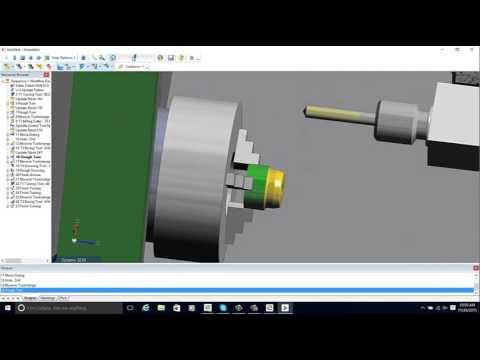 Edgecam Automatic 2 axis CNC Programming for a lathe (видео)