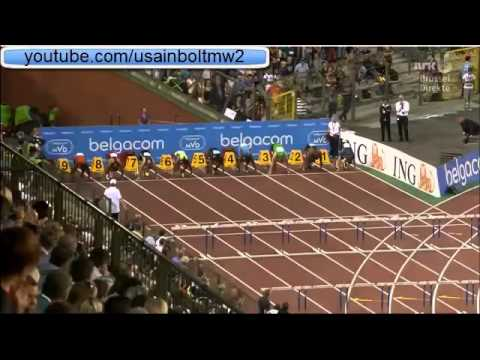 Aries Merritt World Record 110M Hurdles Brussels (12.80)