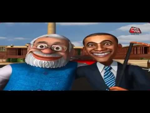 Funny Video Modi Sings America Se Aaya Mera Dost Welcomes Obama Just For Fun