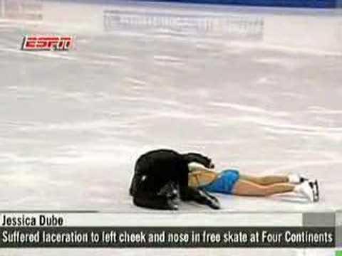 花式溜冰的恐怖意外!好可怕!