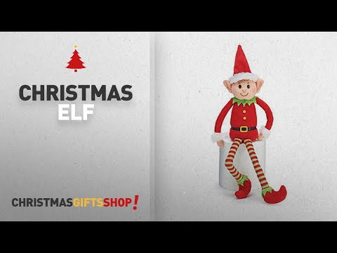 Top Christmas Elf Ideas: Plush Little Elf Soft Stuffed Santa Helper Christmas Gift