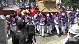 鳥出神社の鯨船行事(四日市市富田)