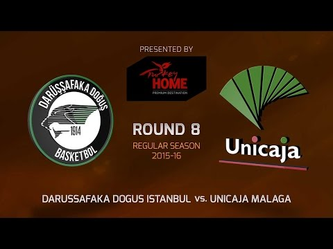 Highlights: RS Round 8, Darussafaka Dogus Istanbul 63-57 Unicaja Malaga