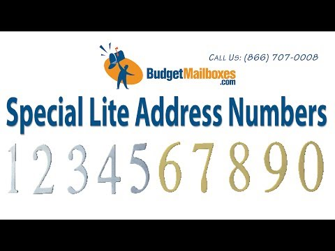 Budget Mailboxes | Special Lite Address Numbers