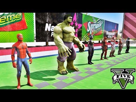 Desafio Corrida de Super Heróis! Ep #51 - GTA V Mods - IR GAMES