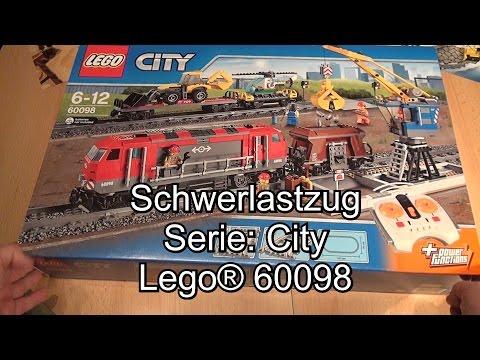 LEGO Schwerlastzug 60098 Review (City Heavy-Haul Train Test deutsch)