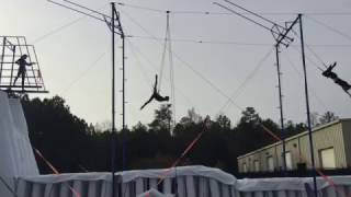 High Flying Trapeze - Split catch.