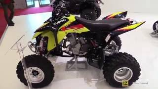 8. 2016 Suzuki QuadSport Z400 Sport ATV - Walkaround - 2015 Salon de la Moto Paris
