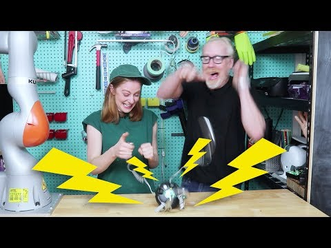 Playing electric shock games with Adam Savage
