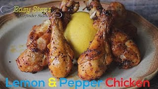 FAST RECIPE How To Cook Oven Roasted Lemon & Pepper Chicken Drumsticks  Juicy Tender Chicken in Easy Steps. Ingredients: 8 pcs. Chicken Drumsticks with Skin...