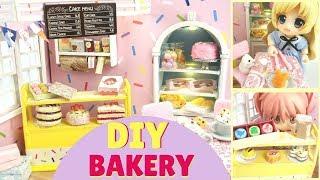 🍰DIY Kawaii Miniature Bakery Dollhouse Kit - DIY Polymer Clay Cakes!