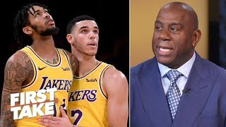 Magic Johnson reveals Lakers' expectations, how to beat Warriors   First Take