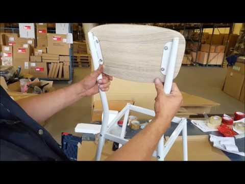 Esszimmerstuhl, Küchenstuhl, Stuhl Aufbau Anleitung Montage