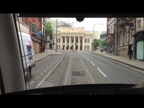 tram - Part 1 of a trip on Nottingham Express Transit, covering Station Street to The Forest.